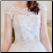 Chic Wedding Gown of Satin and Tulle - close-up of bodice