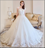 Chic Wedding Gown of Satin and Tulle
