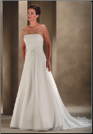 Chiffon Strapless Princess Wedding Dress