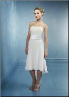 Chiffon and Satin High-Low Wedding Dress