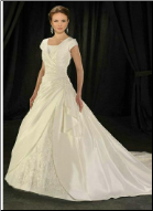 Classic Satin and Lace Wedding Dress