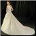 Classic Satin and Lace Wedding Dress - showing back of gown and train