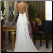 Column Sleeveless Chiffon Wedding Gown - back of dress showing elegant cross-over straps