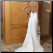 Column Sleeveless Satin and Chiffon Wedding Gown - back of dress showing elegant low-cut back
