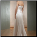 Column Strapless Satin Wedding Gown - back of dress showing elegant corset lace-up closure
