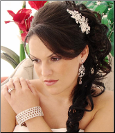Heirloom Silver Plated Floral Bridal Comb