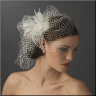 Feather Rhinestone Couture Fascinator