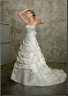 Contemporary Strapless Satin Ball Gown