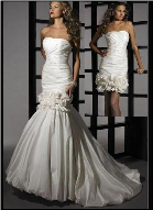 Convertible Mermaid Style Taffeta Wedding Gown