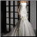Convertible Mermaid Style Taffeta Wedding Gown shown with skirt attached
