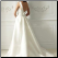 Convertible One-Shoulder Satin Wedding Dress showing back of gown