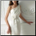 Convertible One-Shoulder Satin Wedding Dress - showing without train