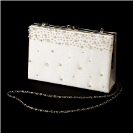 Beaded Ivory Satin Bridal Bag