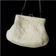 Elegant Beaded Ivory Bridal Bag