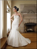 Attractive Strapless Mermaid Style Wedding Gown