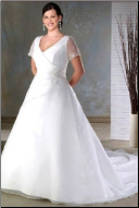 A Line Satin Bridal Gown