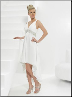 Casual Empire Line V-Neck Chiffon Wedding Dress