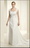 Elegant Chiffon and Lace Bridal Gown