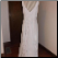 Elegant Embroidered Chiffon Informal Wedding Gown - show here bustled for reception