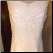 Elegant Embroidered Chiffon Informal Wedding Gown - close-up of embroidery