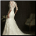 Elegant Lace Fit and Flare Wedding Dress - back of gown showing elegant train