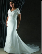 Elegant Mermaid Style Plus Size  Wedding Dress