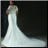 Elegant Mermaid Style Plus Size Wedding Dress showing detailed back and elegant train