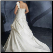 Elegant Organza Full-Figure Wedding Gown - shown with detachable shoulder strap