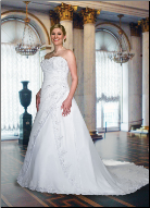 Elegant Plus Size Satin Wedding Dress