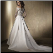 Elegant Satin and Lace Wedding Gown - showing back of gown and train