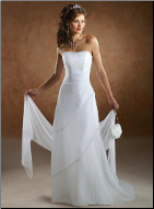 Elegant Sleeveless Wedding Gown