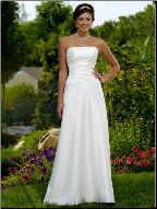 Elegant Strapless Satin Wedding Dress