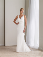 Elegant and Lovely Chiffon Wedding Dress