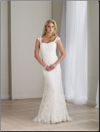 Elegant and Lovely Lace Wedding Dress with Cap Sleeves