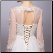 Embroidered Organza Wedding Dress with Long Sleeves - close-up of back of bodice