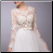 Embroidered Organza Wedding Dress with Long Sleeves - bodice
