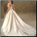 Embroidered Princess Satin Wedding Gown - back view showing embroidered train and lace up back