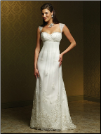 Empire Line Lace Wedding Dress