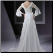 Empire Line Sweetheart Chiffon Wedding Gown with Lace Sleeves showing back of dress