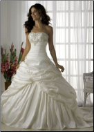 Exquisite Taffeta Princess Style Ballgown in stock size 6