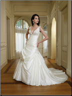 Fit and Flare Taffeta Bridal Gown