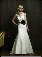 Flattering Lace over Satin Bridal Gown