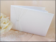 Sheer Organza with Swarovski Crystal Guest Book