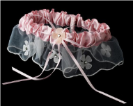 Adorable Pink Bridal Garter