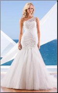 Mermaid One-Shoulder Tulle