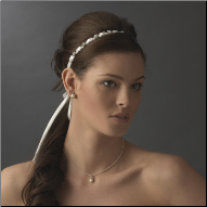 Charming Bridal Satin Ribbon style Headband