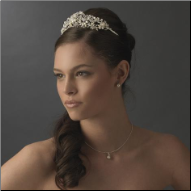Birgitte of Gloucester Pearl and Crystal Tiara
