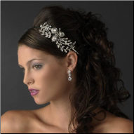 Charlotte Abstract Rhinestone Floral Bridal Headband