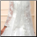 High Neck Long Sleeve Tulle Ballgown with Appliques close up of back of gown