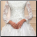 High Neck Long Sleeve Tulle Ballgown with Appliques - close up of bodice and skirt